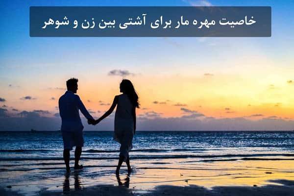 خاصیت مهره مار برای آشتی بین زن و شوهر